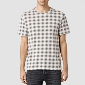 AllSaints Malheur Short Sleeve Crew Tee in Natural